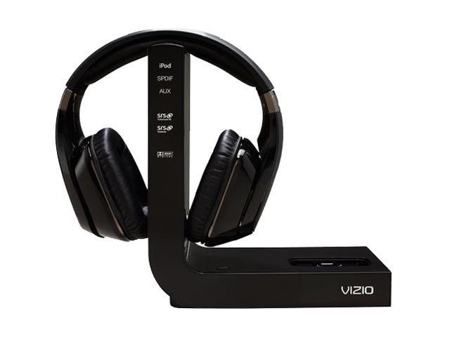 VIZIO XVTHP200 Circumaural Home Theater Headphones with Wireless Dock for iPod