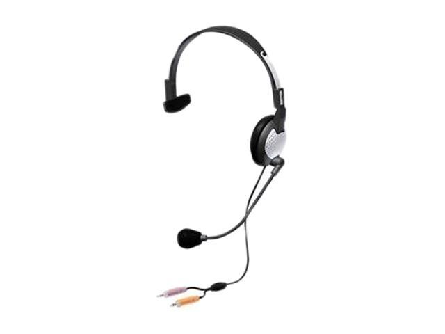 Andrea NC-181 Speaker Plug 3.5mm Microphone Plug 3.5mm Connector Supra-aural High Fidelity Monaural PC Headset with Noise Canceling Microphone