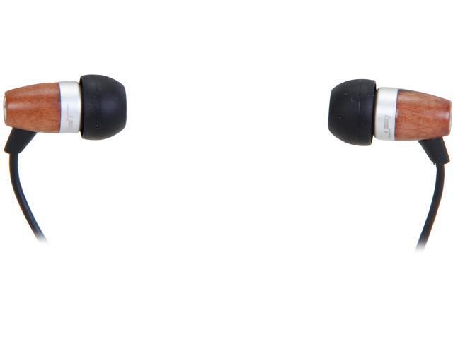 JLAB Ebony JFI-EBNY-BOX JBuds Wood Acoustic Earbuds -