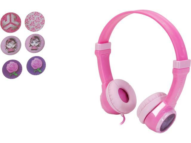 JLab JBuddies Kids Volume Limiting Headphones - Pink - JK-PINK-RTL