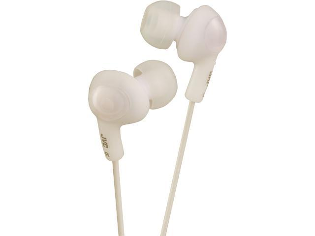 JVC HAFX5W Gumy Plus Inner Ear Headphones (White)