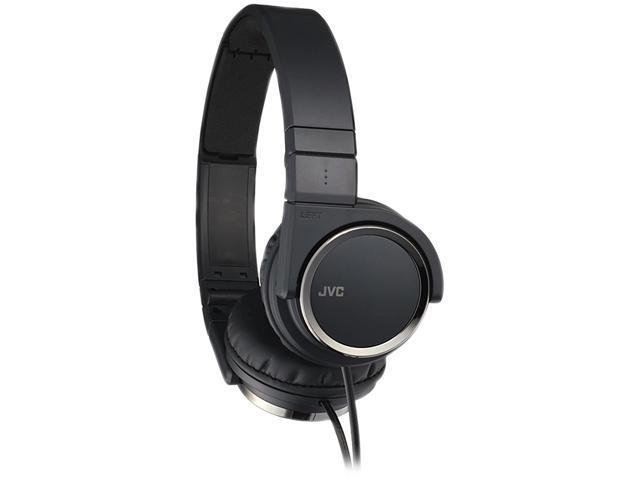 JVC Lightweight Black HA-S400-B 3.5mm Connector Supra-aural Headphones with Carbon Nanotubes Black