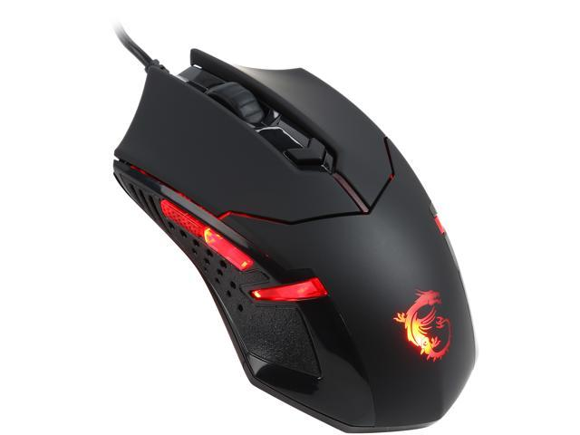 MSI Interceptor DS B1 H01-0001711 Black 6 Buttons 1 x Wheel USB Wired Optical 1600 dpi Gaming Mouse