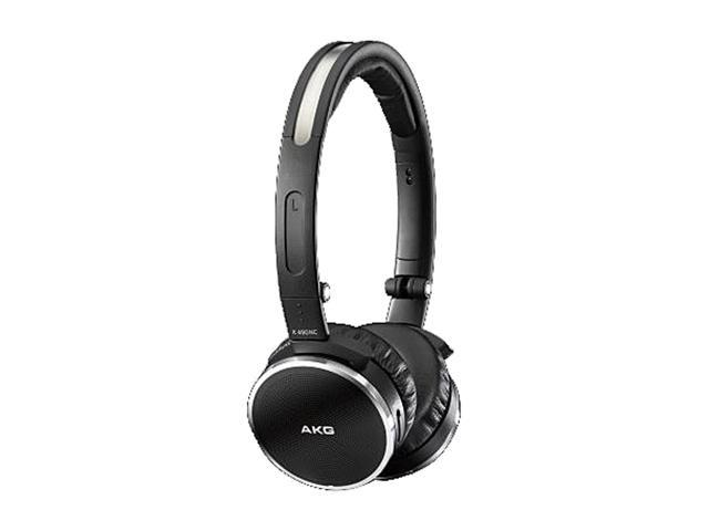 AKG Black with Silver Elements K490 NC 3.5mm Connector On-Ear High-Performance Active Noise-Cancelling Headphone