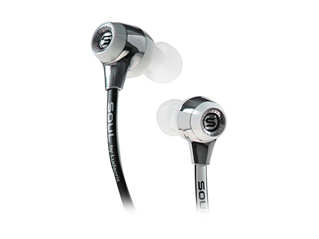 Soul by Ludacris White color with black trim SL99BW In-Ear High-Def Sound Isolation Headphone