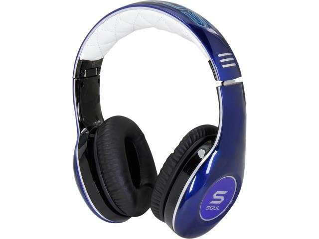 Soul by Ludacris Blue SL150BU 3.5mm Connector Circumaural Pro Hi-Definition On-Ear Headphones