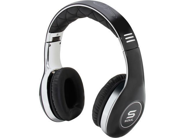 Soul by Ludacris Black SL150CBC 3.5mm Connector Pro Hi-Definition On-Ear Headphones - Chrome/Black