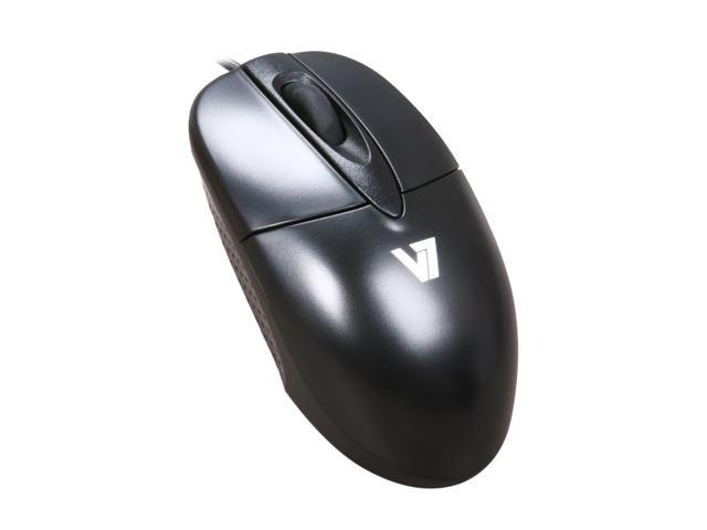 V7 M30P10-7N Black Wired Optical Mouse - OEM