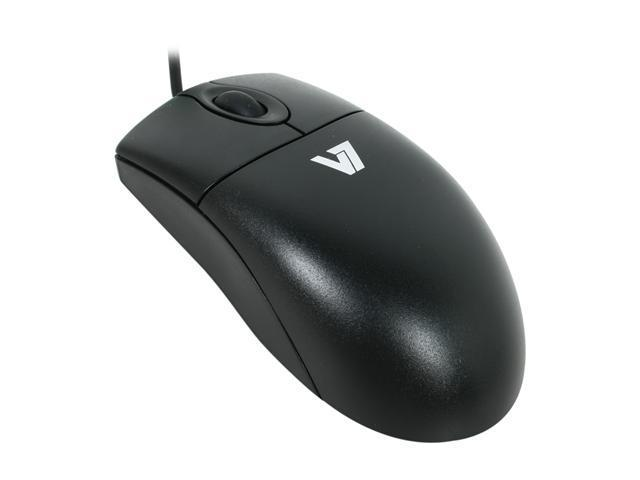 V7 M30P20-7N Black 3 Buttons 1 x Wheel PS/2 Wired Optical Mouse
