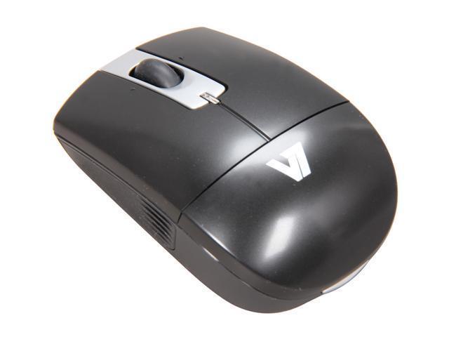 V7 M42N01-7N Black 2.4 GHz Wireless Laser Mouse - OEM