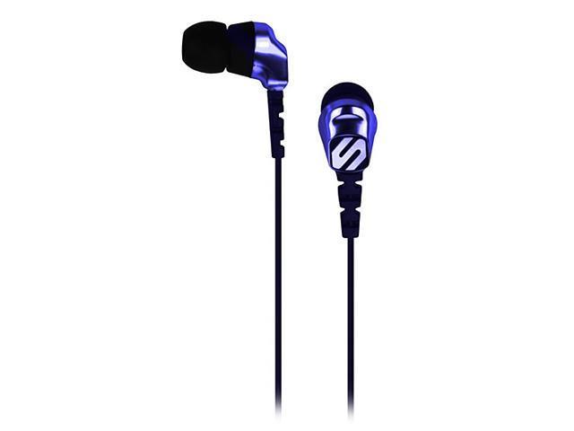 SCOSCHE Black & Blue HP255MDBL Earbud Noise Isolation with tapLINE III Remote & Mic