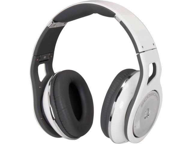 SCOSCHE White RH1056M Reference Headphones with tapLINE Remote & Mic (White)