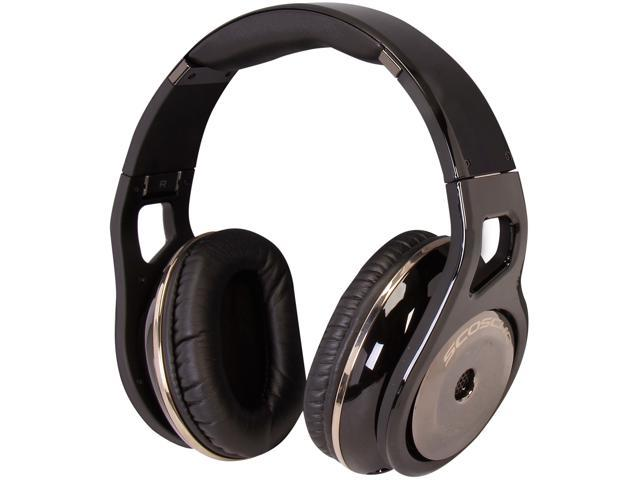 SCOSCHE Black RH1056MD Reference Headphones with tapLINE III (Dark)