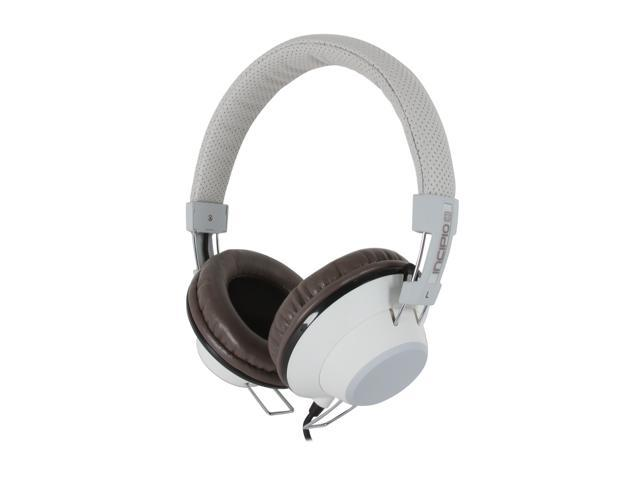 Incipio NX-103 3.5mm/ 6.3mm Connector Circumaural f38 Hi-Fi Stereo Headphone - Vintage White