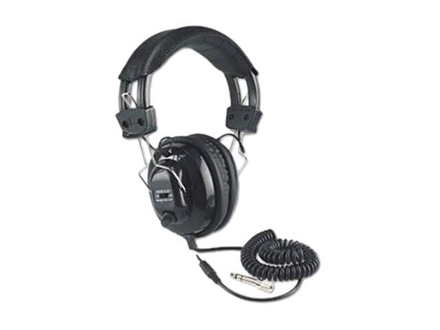 AmpliVox Black SL1002 3.5mm Connector Deluxe Stereo Headphones with Volume Control