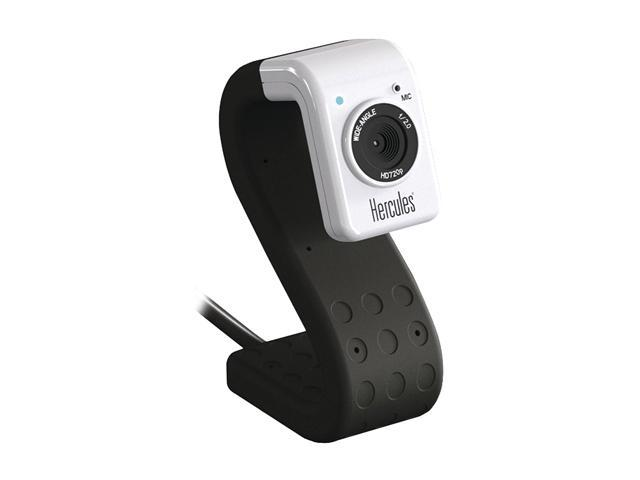 Hercules 4780718 HD Twist Black Mini Webcam