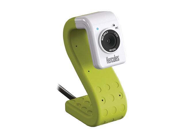 Hercules 4780733 HD Twist Green Mini Webcam