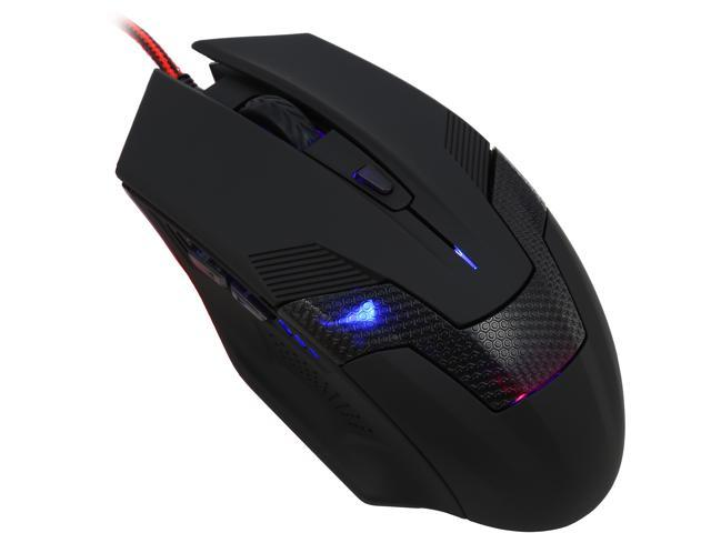 Orange MMOUC122NB, 2400 DPI Ergonomic High Precision LED Gaming Mouse With Side-control Buttons PRO-AIM Gaming Sensor