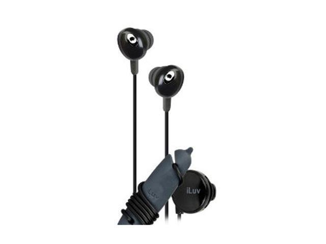 iLuv The Bean Black IEP311BLK Canal Stereo Earphone with Volume Control