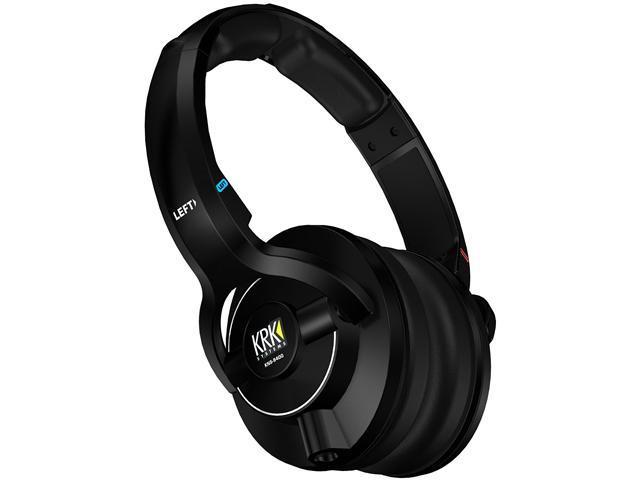 KRK Black KNS 8400 3.5mm Connector Circumaural Closed Back Studio Headphones
