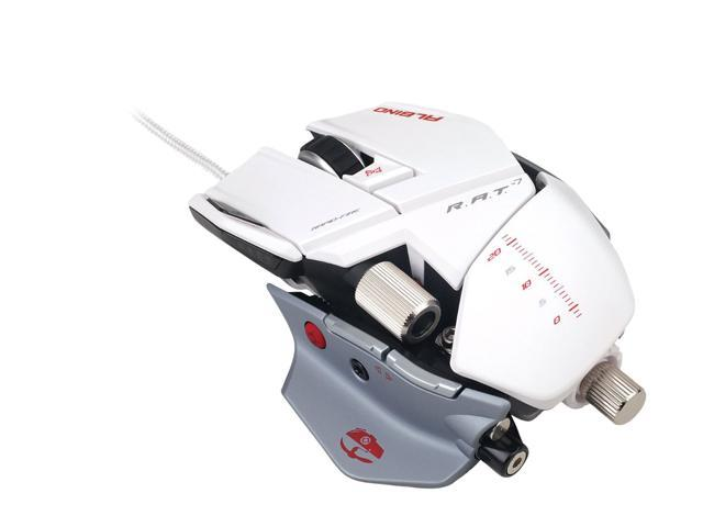Mad Catz White 8 Buttons 1 x Wheel USB 2.0 Wired Laser Mouse