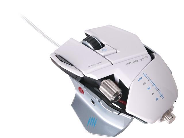 Mad Catz R.A.T.5 Gaming Mouse for PC and Mac - White