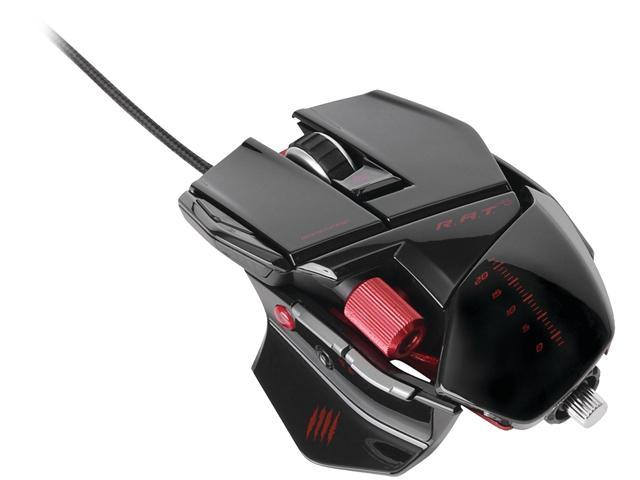 Mad Catz R.A.T.5 Gaming Mouse for PC and Mac - Gloss Black