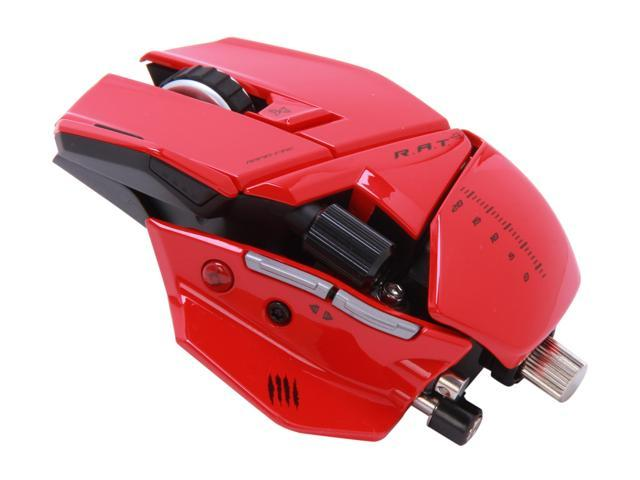 Mad Catz R.A.T.9 Gaming Mouse for PC and Mac - Red