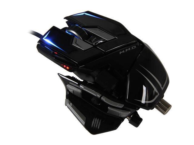 Mad Catz M.M.O. 7 MCB4371300C2/04/1 Glossy Black 15 1 x Wheel USB Laser 6400 dpi Gaming Mouse for PC and Mac