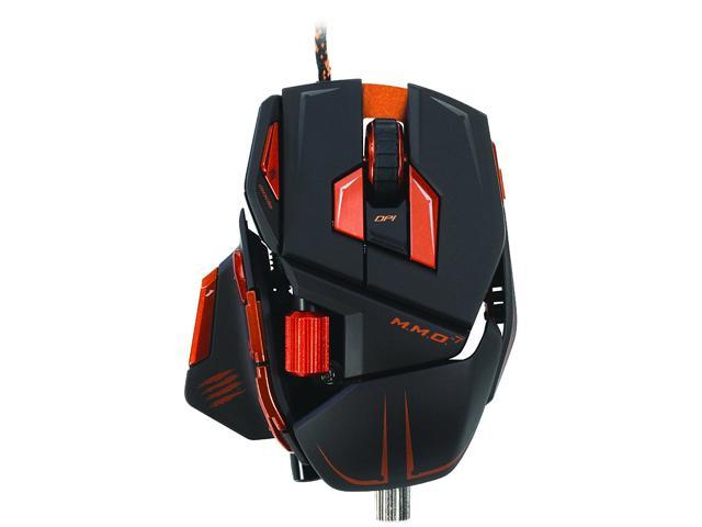 Mad Catz M.M.O. 7 MCB437130002/04/1 Matte Black 15 Buttons 1 x Wheel USB 2.0 Wired Laser Gaming Mouse for PC and Mac