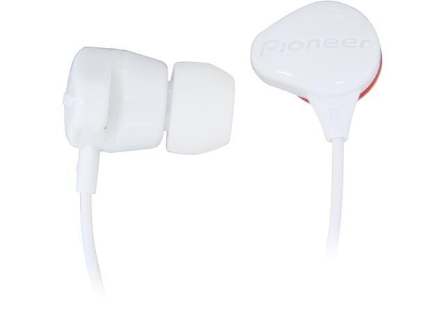 Pioneer SE-CL331-H 3.5mm Connector Canal Water-Resistant  Stereo Earbud Earphone (White)