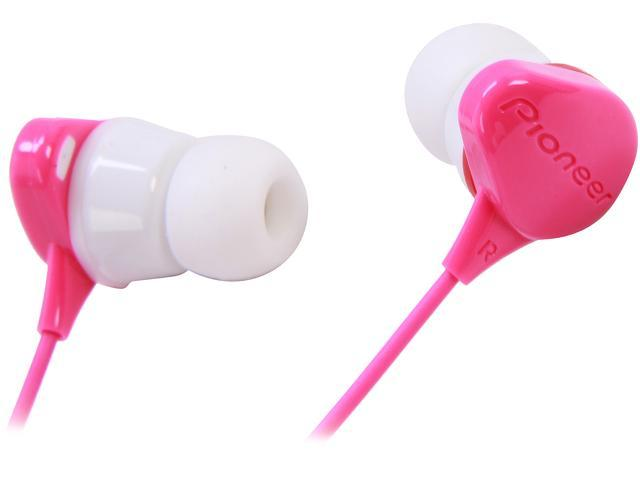 Pioneer SE-CL331-P 3.5mm Connector Canal Water-Resistant Stereo Earbud Earphone for sports(Pink)