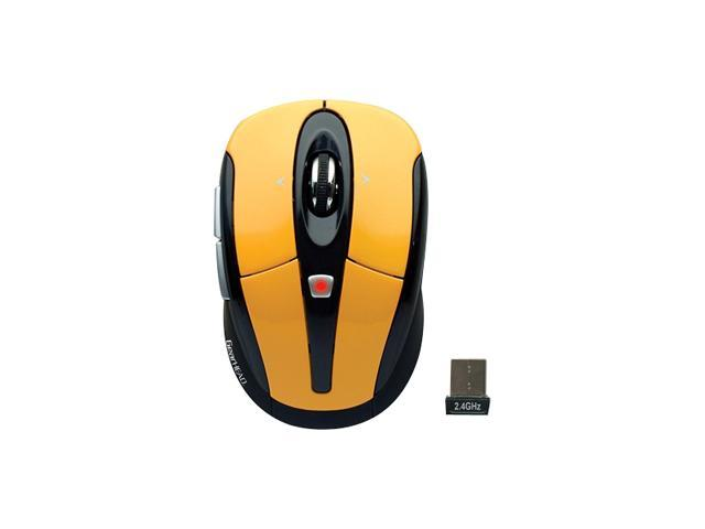 GEAR HEAD MPT3400YLW Yellow&Black 2.4 GHz Wireless Optical Mouse