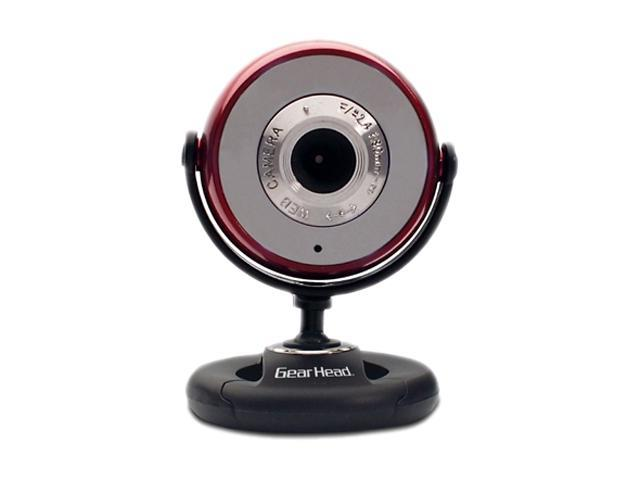 GEAR HEAD WC750RED USB 2.0 Plug-n-Play WebCam for PC