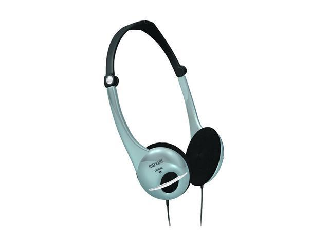 Maxell 190439 - HP700F 3.5mm Connector Supra-aural Digital Stereo Headphones w/Volume Control - Foldable