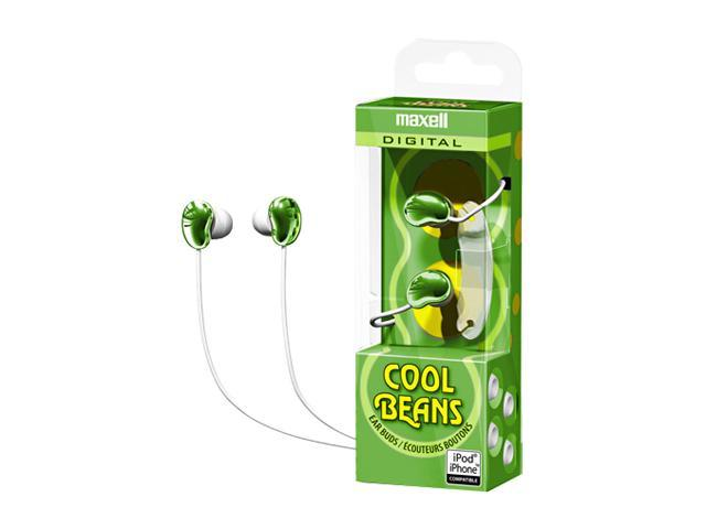 Maxell 190251 3.5mm Connector Canal Cool Beans Digital Ear Buds - Green