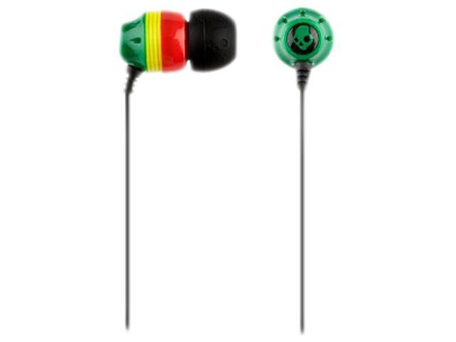 Skullcandy Ink'd S2INCZ-058 In Ear Earphone, Rasta (2011 Model)