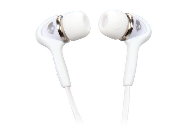 Skullcandy White/Chrome S2SBDZ-075 In-Ear Smokin Buds Headphone - White/Chrome