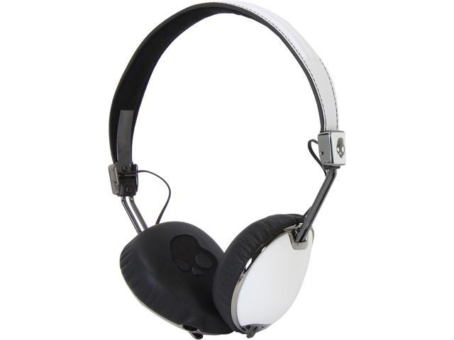 Skullcandy White/Black S5AVDM-074 Navigator Headphones with Mic, White/ Black
