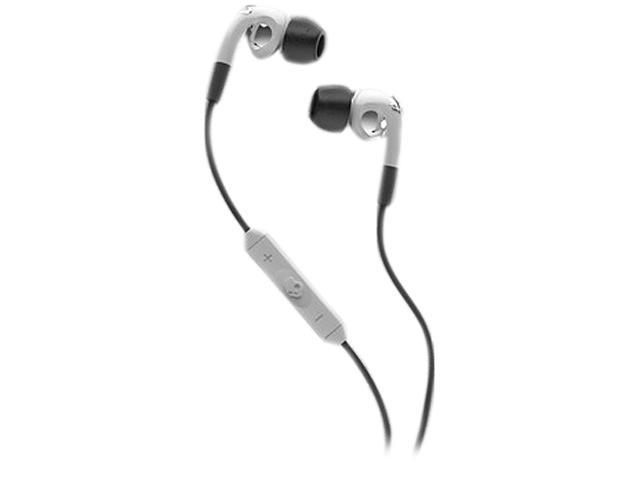 Skullcandy White/Chrome S2FXFM-072 Fix In-Ear Headphones w/ Mic3, White/ Chrome