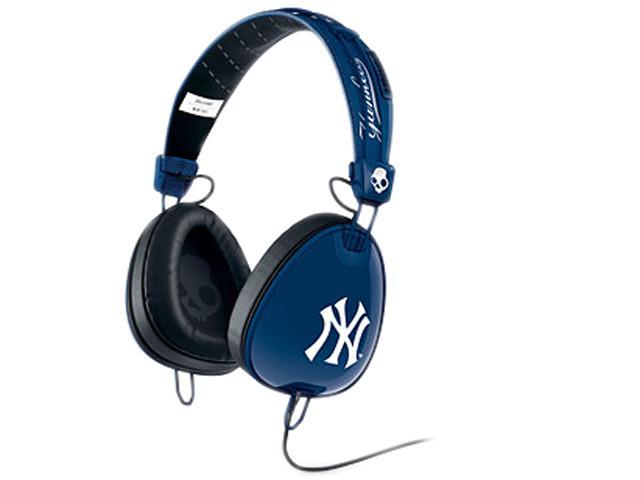Skullcandy Yankees Navy/ White S6AVFM-277 Aviator Headphones with Mic3, Yankees Navy/ White