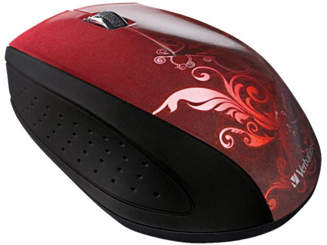 Verbatim 97784 Red 1 x Wheel USB 2.0 RF Wireless Optical Design Mouse