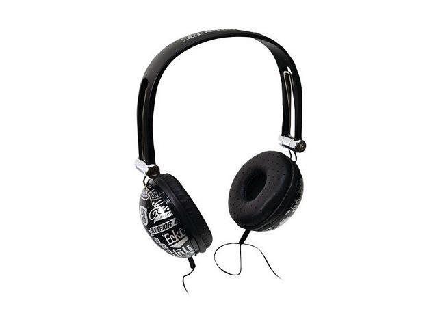 Mizco Black EKU-IMP-COLBK Impact Headphones MIC & Controls Black