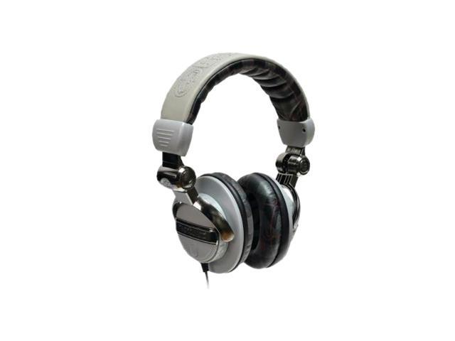 Ecko Plaid Gray EKU-FRC-PLDGRY Circumaural Unlimited Force Over-the-Ear Headphone with Microphone