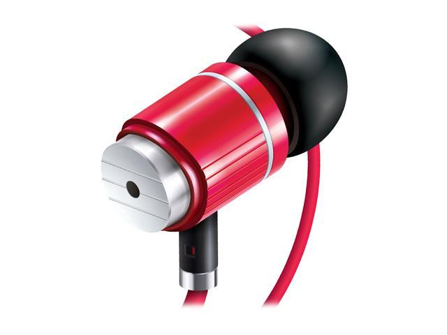 Accessory Power GOgroove AudiOHM BPM Red 3.5mm Ergonomic Headset GG-AUDIOHMBPM-RED