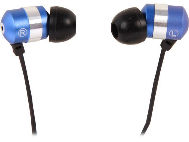 Accessory Power GOgroove audiOHM HF Blue 3.5mm Earbud Headset with Hands-Free Microphone GG-AUDIOHMHF-BLU