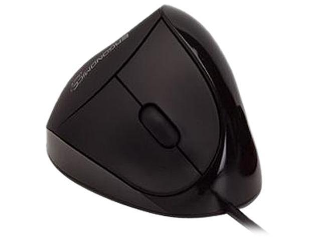 Ergoguys Comfi Ergonomic Mouse EM011-BK Black 5 Buttons 1 x Wheel USB Wired Optical Mouse