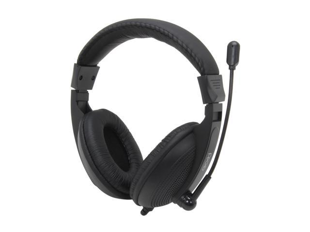 Pixxo HS-780-B 3.5mm Connector Circumaural Multimedia Headset with Microphone (Black)