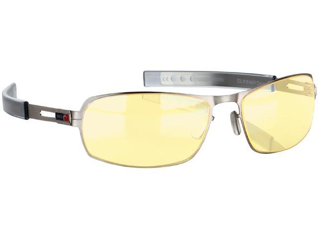 Gunnar PHA-01101 Phantom Gaming Eyewear with Amber Lens Tint and Chrome Frame Color