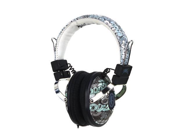 Ecko Ecko Exhibit Graffiti EKU-EXH-GRF On Ear Headphone/Mic - Graffiti